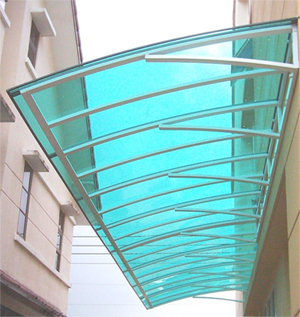awning polycarbonate on wall